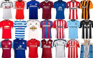 Camisas de diversos clubes europeus