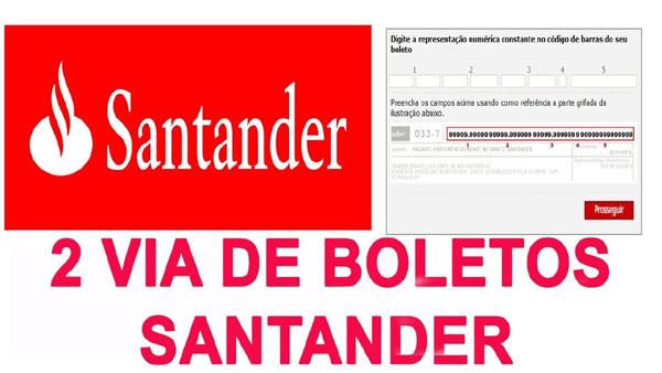 Como tirar segunda via boleto Santander