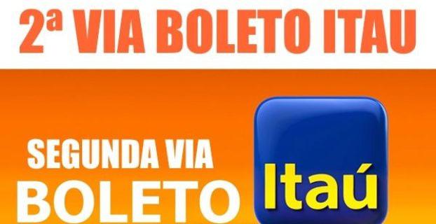 Segunda via boleto itaú